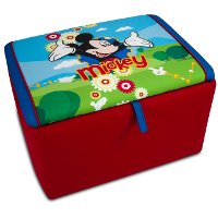 Disney's Upholstered Storage Box - Mickey Mouse Clubhouse
