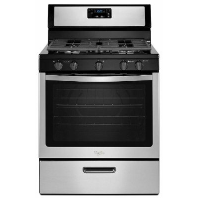 WFG505M0BS Whirlpool Gas Range - 5.1 cu. ft. Stainless Steel and Black