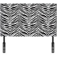 Black & White Upholstered Twin Headboard