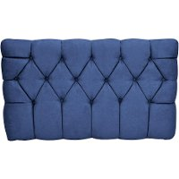 Navy Tufted Upholstered Twin Headboard - Meridia