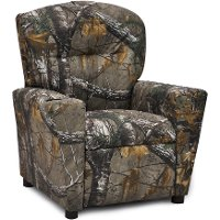 Woodsy Camouflage Kids Recliner - Real Tree