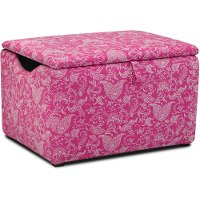 Candy Pink Storage Box - Small Paisley
