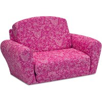 Candy Pink Sleepover Sofa - Small Paisley