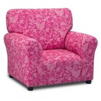 Candy Pink Club Chair - Small Paisley