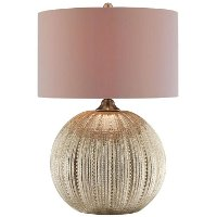Glass Melon Table Lamp