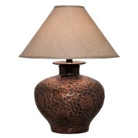 Two-Toned Rubbed Copper Table Lamp