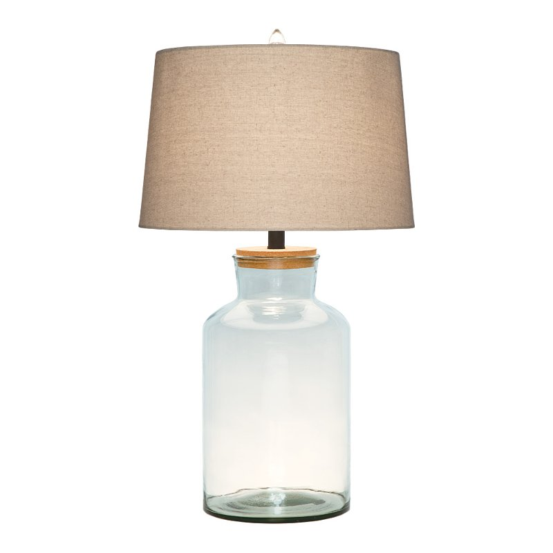 28 inch clear glass table lamp rcwilley image1~800