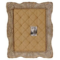 Resin Framed Burlap Pin Board