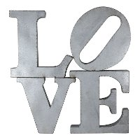 Galvanized Love Word Decor