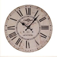 13 Inch Distressed White Wall Clock