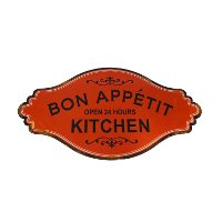 'Bon Appetit' Metal Kitchen Sign