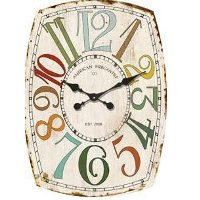 Multi-Colored 27 Inch Whimsy Wall Clock