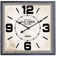 White Metal Framed Square Clock Rc Willey Furniture Store