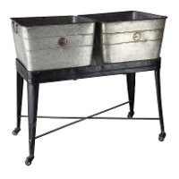 Double Metal Rolling Tub