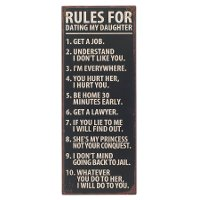 Rules For Dating My Daughter Wall Sign