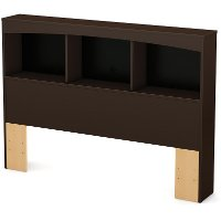 3159079 Chocolate Brown Full Size Bookcase Headboard - Step One