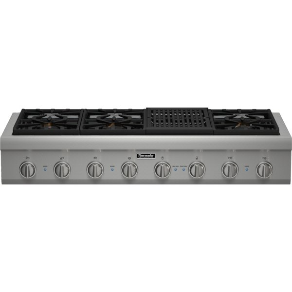 PCG486NL Thermador 48 Inch Professional Series Rangetop - Stainless Steel