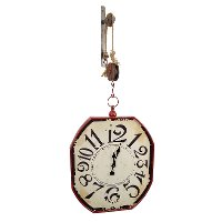 48 Inch Pulley Mounted Distressed Wall Clock