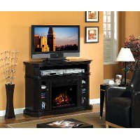 54 Inch Espresso Brown TV Stand and Fireplace - Bellemeade