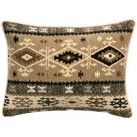 Tan, Brown and Ivory King Sham - Mountain Storm