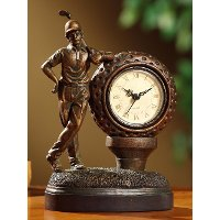 Golden Bronze Golfer Table Clock