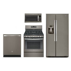 Kitchen Suites Gas Kitchen appliance packages rc willey furniture store 4pc slate sxs gas ge 4 piece kitchen appliance package slate workwithnaturefo