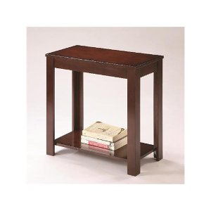 crown mark pierce espresso brown small side table