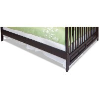 F0648407 Jamocha Mini Crib Twin Bed Rails - London