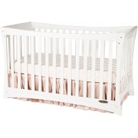 F1230146 Parisian Matte White 3-in-1 Stationary Crib