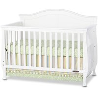 F3100146 Matte White 4-in-1 Convertible Crib - Camden