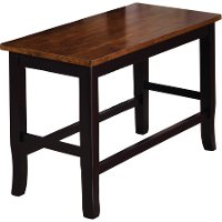 Black and Cherry Counter Dining Bench - Dover