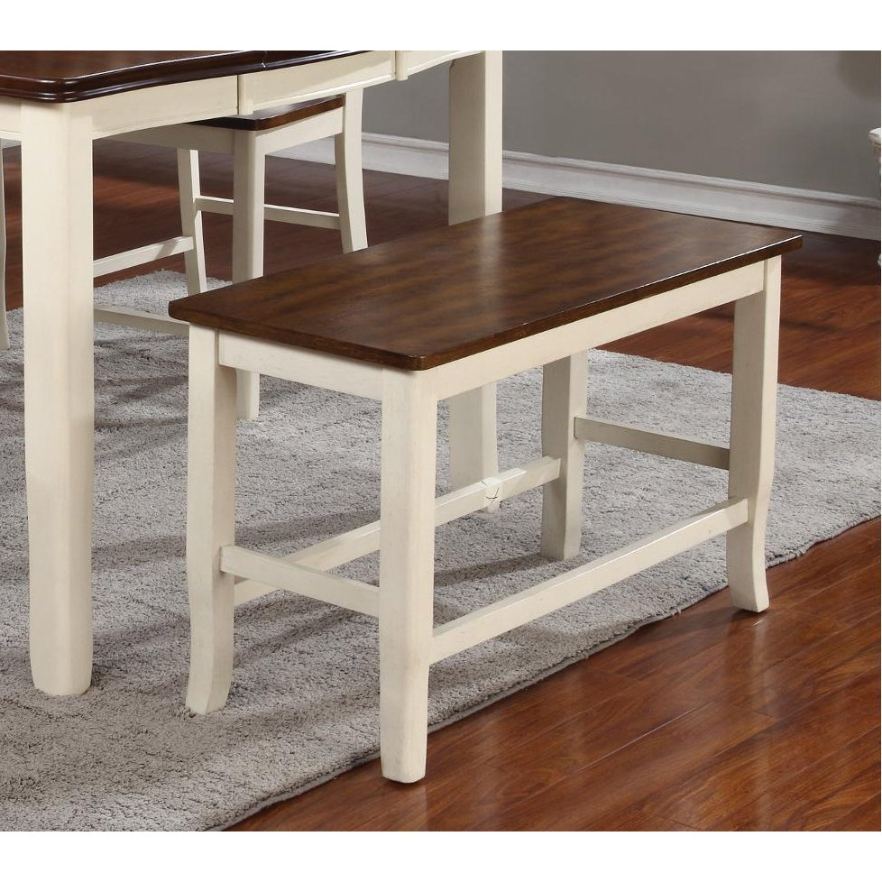White And Cherry Counter Dining Bench   Dover | RC Willey Furniture Store