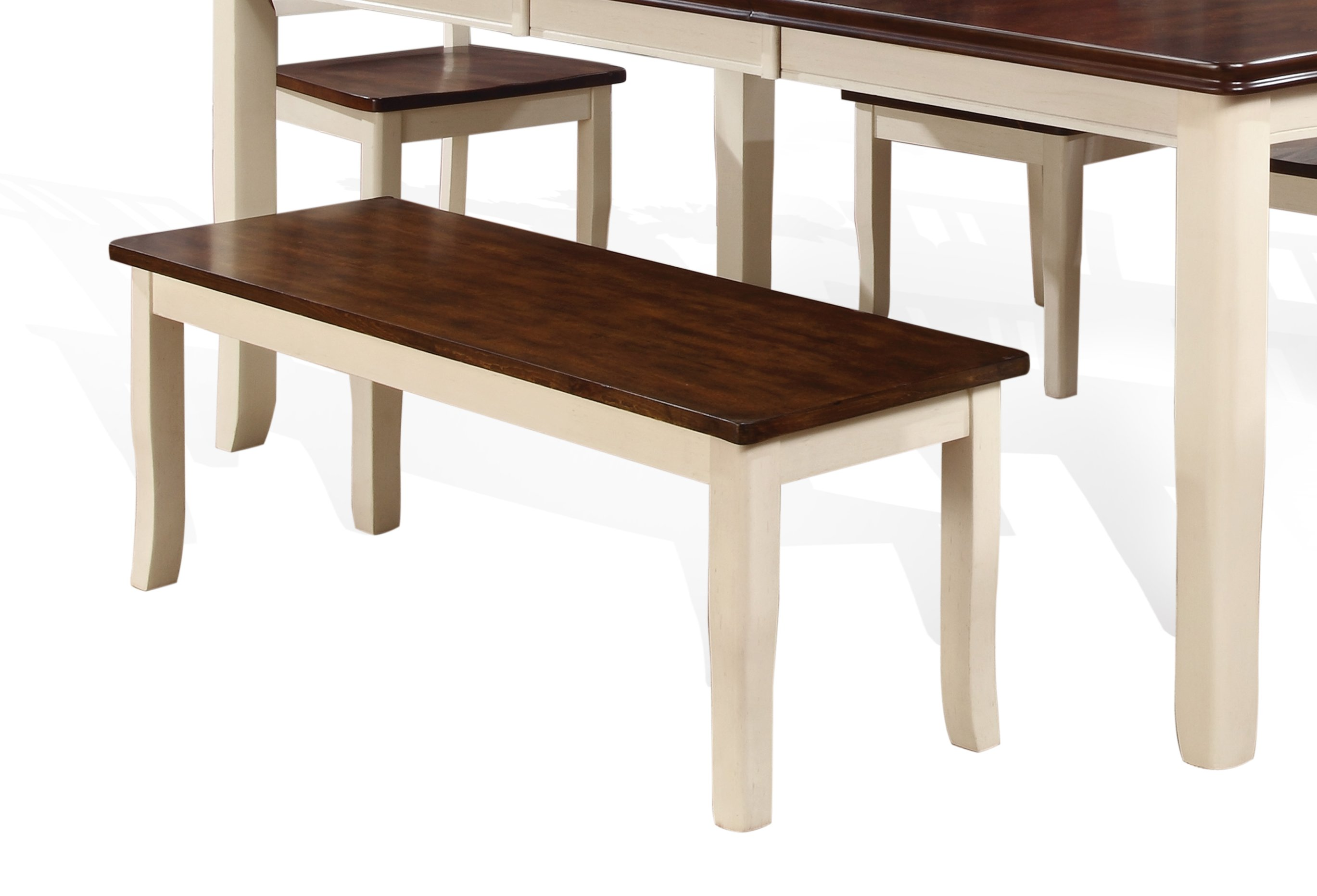 White And Cherry Dining Bench   Dover