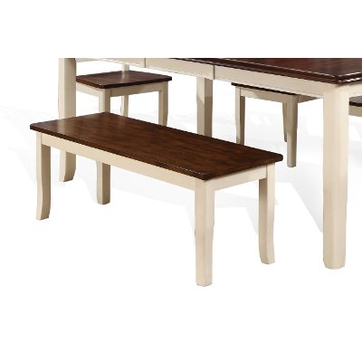 White and Cherry Dining Bench - Dover