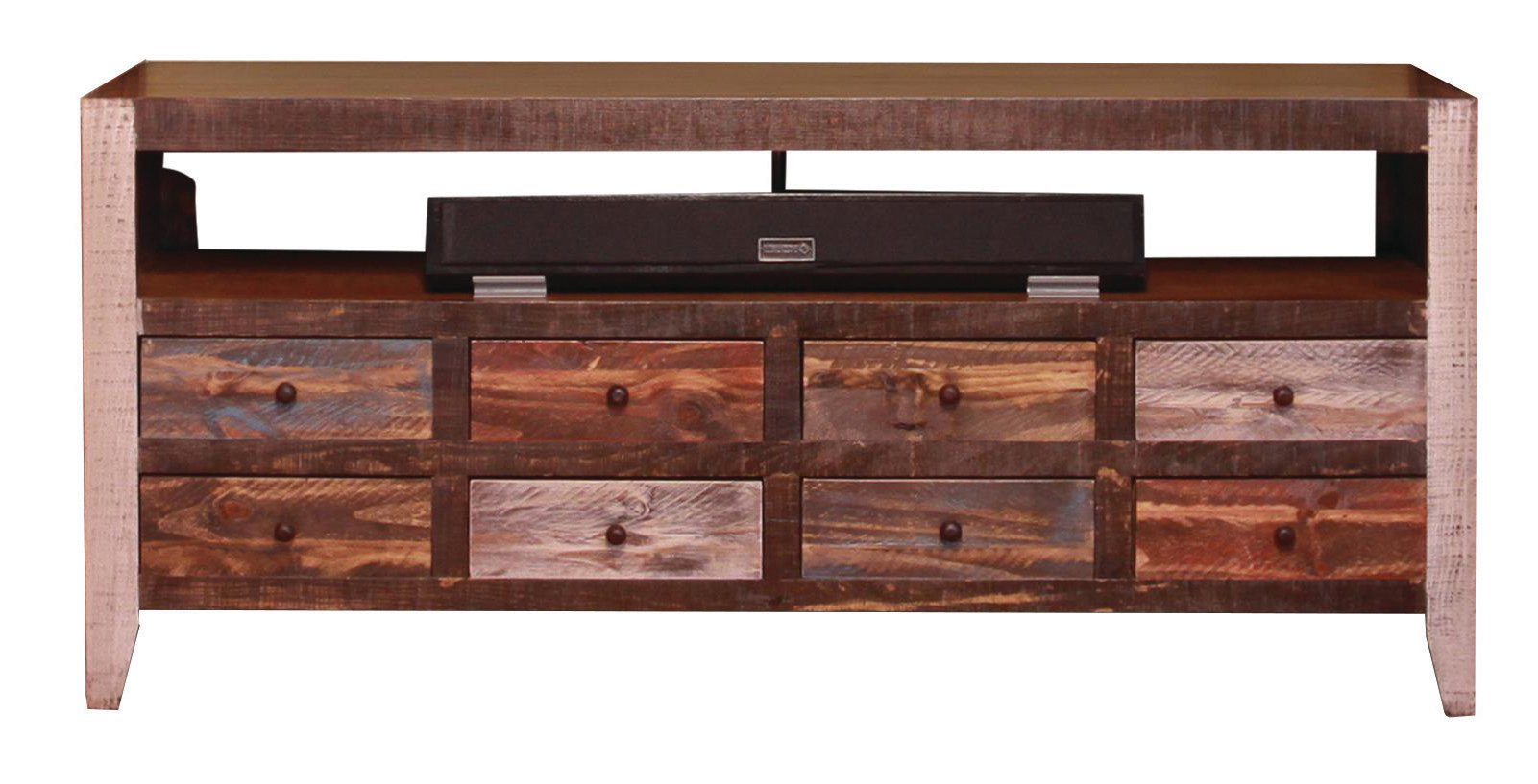61 inch rustic tv stand antique collection - Rustic Center