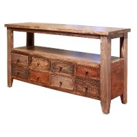 Rustic Pine Sofa Table - Antique