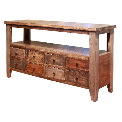 Rustic Pine Sofa Table - Antique - Rustic Pine Sofa Table - Antique RC Willey Furniture Store