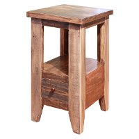 Rustic Side Table - Antique