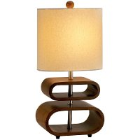 Rhythm Walnut Table Lamp