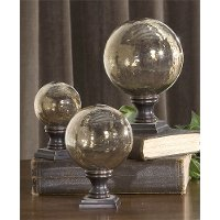 5 Inch Copper Glass Globe Finial