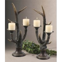 Stag Horn Bone Candle Holder