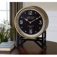 Metal and Brass Table Clock