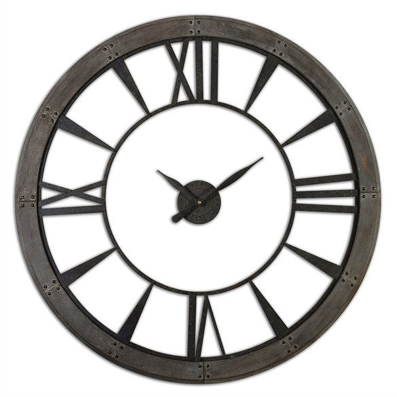 Large 60 Inch Rustic Bronze Wall Clock
