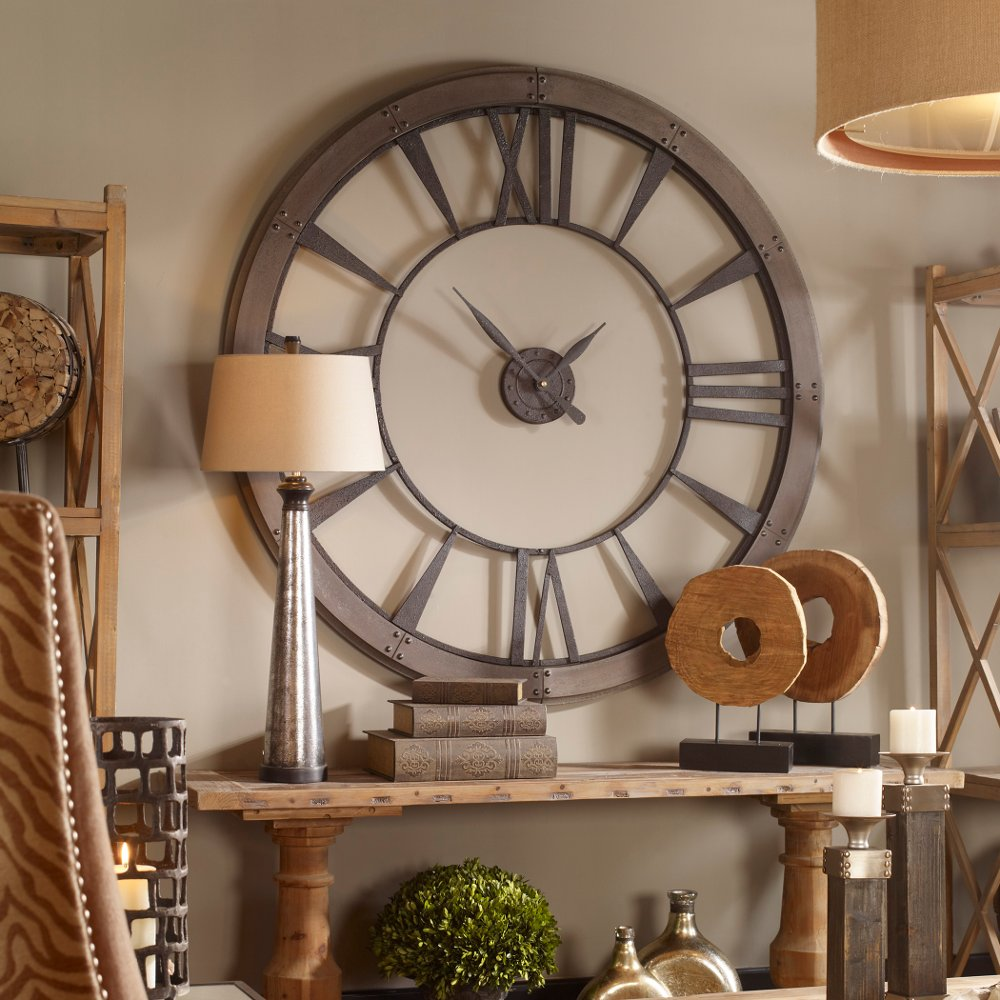 60 inch wall clock Large 60 Inch Rustic Bronze Wall Clock | RC Willey Furniture Store 60 inch wall clock