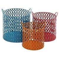 12 Inch Metal Orange Basket