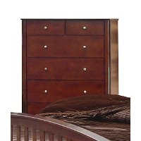 Classic Contemporary Merlot Chest of Drawers - Lawson