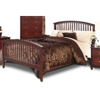 Lawson Merlot Twin Bed - Lawson