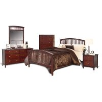 Merlot 6-Piece Twin Bedroom Set - Lawson