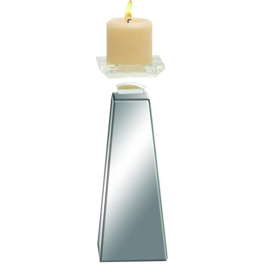 Mirrored 12 Inch Candle Holder