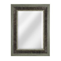 Two-Toned Framed Mirror